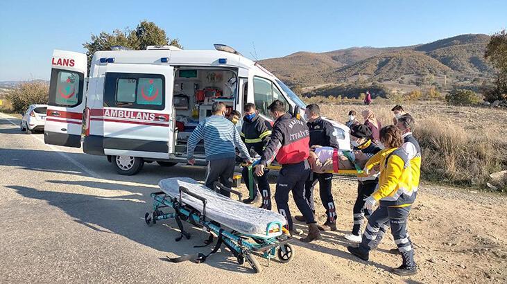Demirci'de trafik kazası: 1 yaralı
