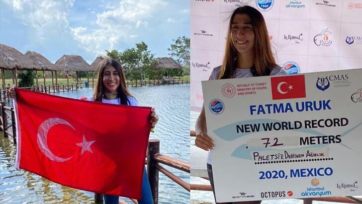 Fatma Uruk dünya rekoru kırdı