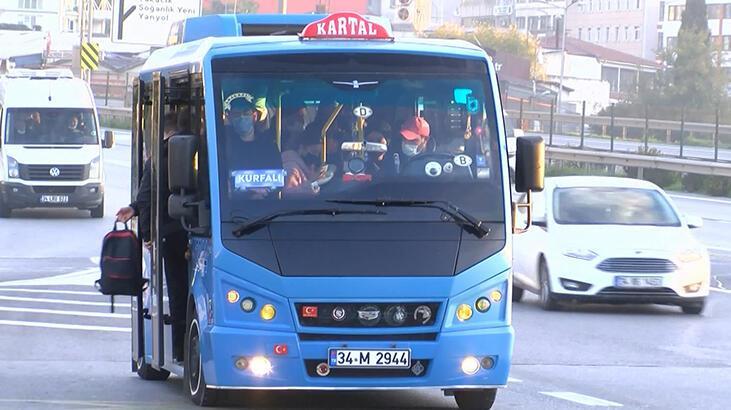 İstanbul'da toplu taşıma araçları tıklım tıklım!