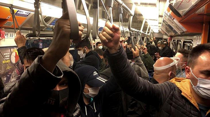 Metro ve metrobüste yine 'Sosyal mesafesiz' ulaşım