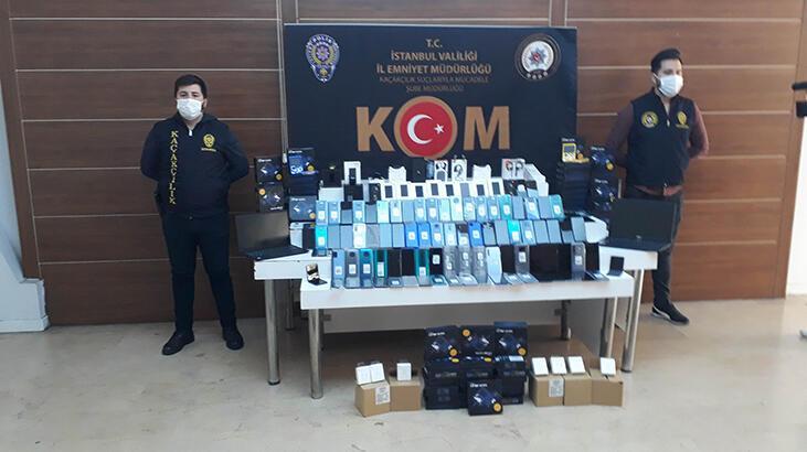 Fatih'te kaçak elektronik cihaz operasyonu