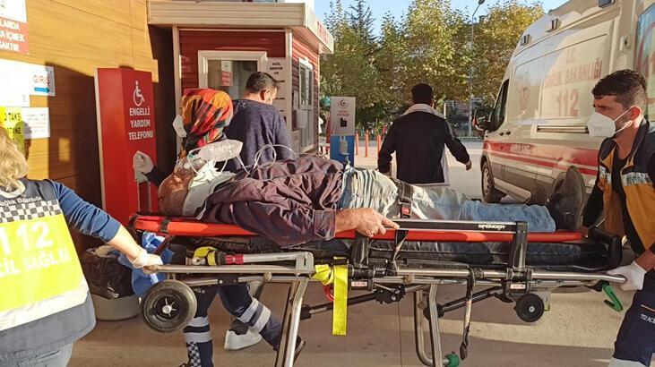 Başına tomruk düşen işçi ağır yaralandı