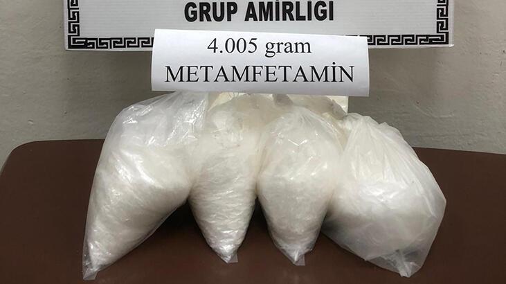 Mardin'de 4 kilo metamfetamin ele geçirildi