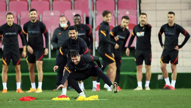 Son dakika - Galatasaray'da Luyindama, Emre Taşdemir ve Peter Etebo idmanda yer aldı!