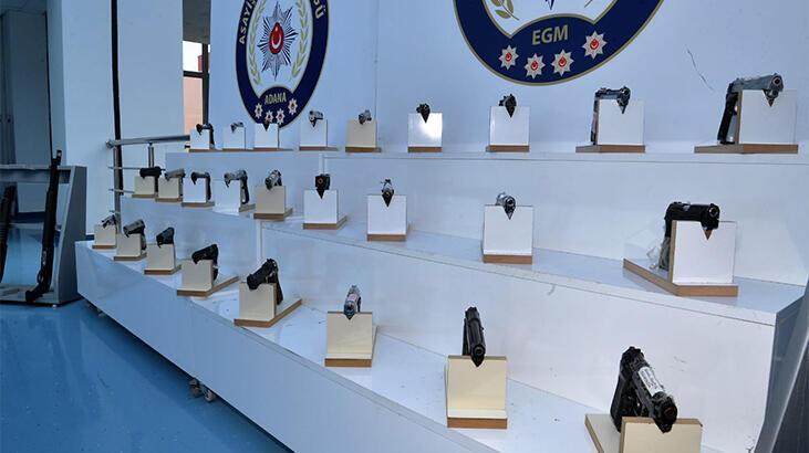 Adana'da aranan 224 kişi yakalandı, 47 ruhsatsız silah ele geçirildi