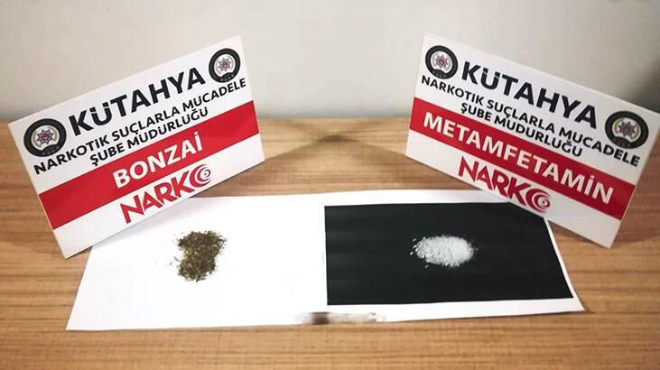 Kütahya'da metamfetamin ve bonzai maddesi ele geçirildi