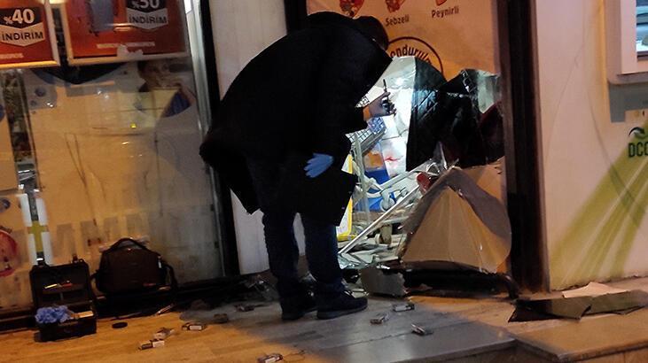 Şişli'de dehşet anları! Markete gelen hırsızlar taksicilere silah çekti