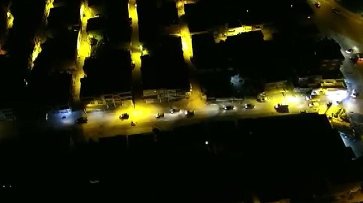 Adana'da 'torbacı' operasyonu dronela görüntülendi