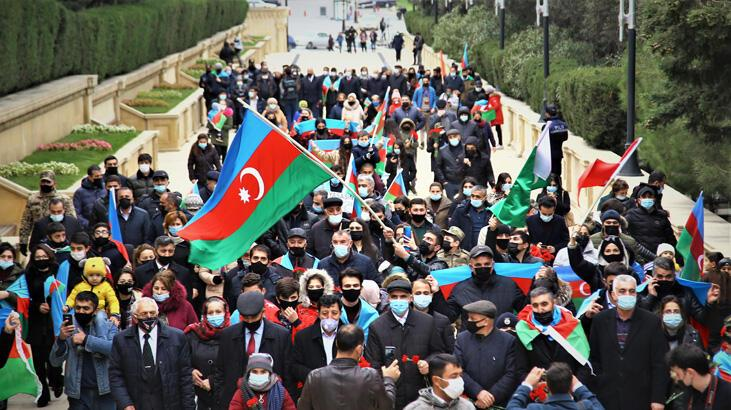 Azerbaycan Kelbecer'i kutluyor