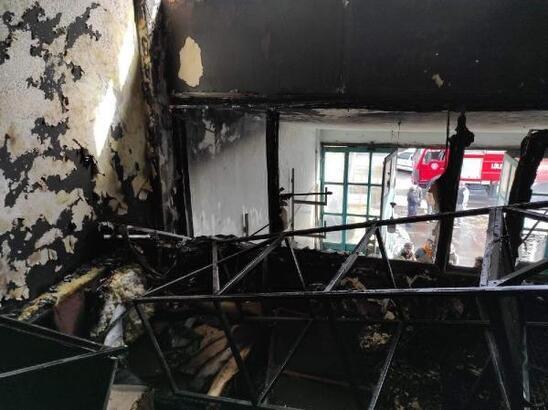 Lüleburgaz'da metal atölyesinde yangın