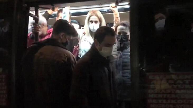 Esenyurt yine aynı manzara! 14 kişilik minibüsten 41 yolcu çıktı