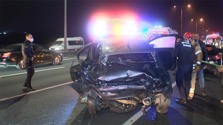FSM Köprüsü'ndeki trafik kazasında 3 kişi yaralandı