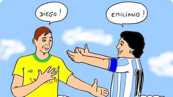 Son dakika - Fransız kulübü Nantes'a Maradona karikatürü tepkisi
