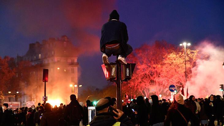 Fransa'da tansiyon yükseldi! Ortalık yangın yerine döndü