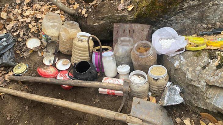 Bitlis'te operasyon! Toprağa gömülü halde bulundu