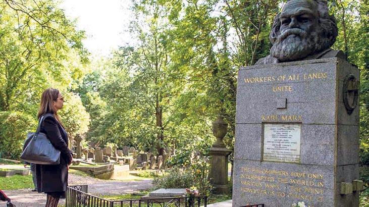 Marx'ın yattığı mezarlığa dükkân!