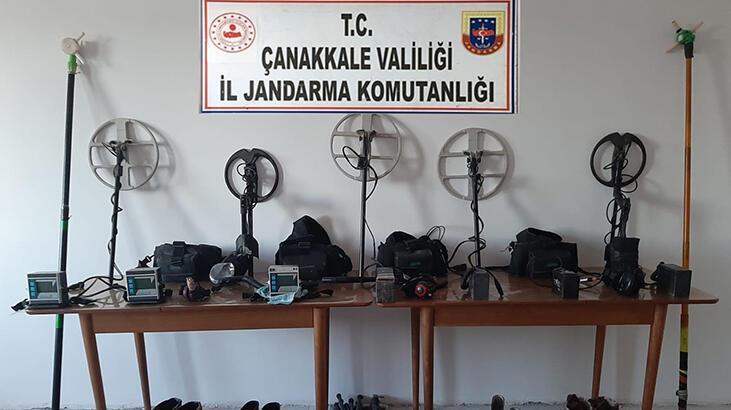 Çanakkale'de kaçak kazı operasyonu: 17 gözaltı