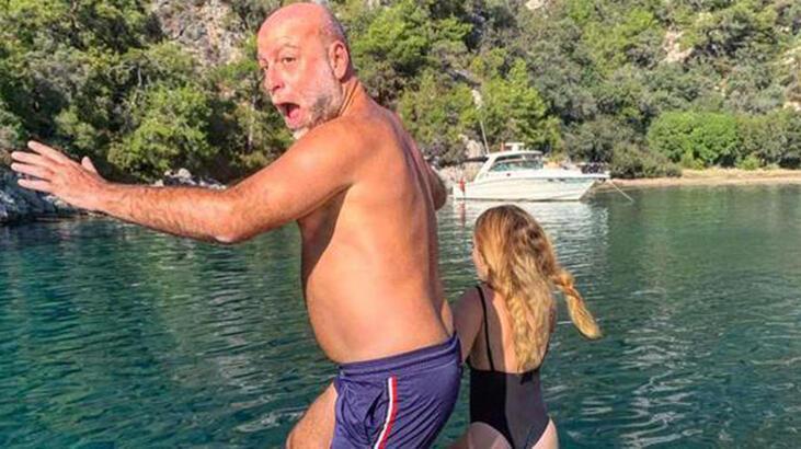 Naz Elmas-Erol Özmandıracı denize böyle atladı