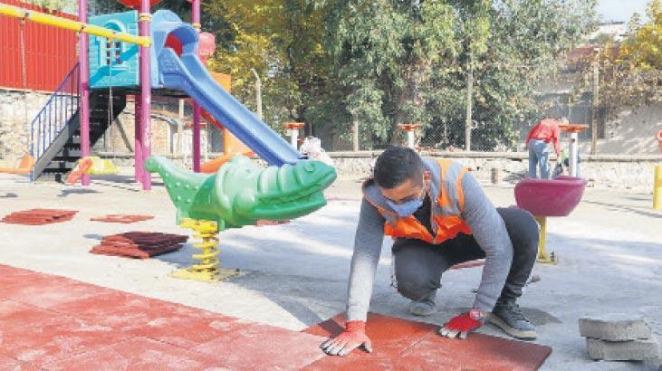 Kentteki parklar bakım ve onarımda