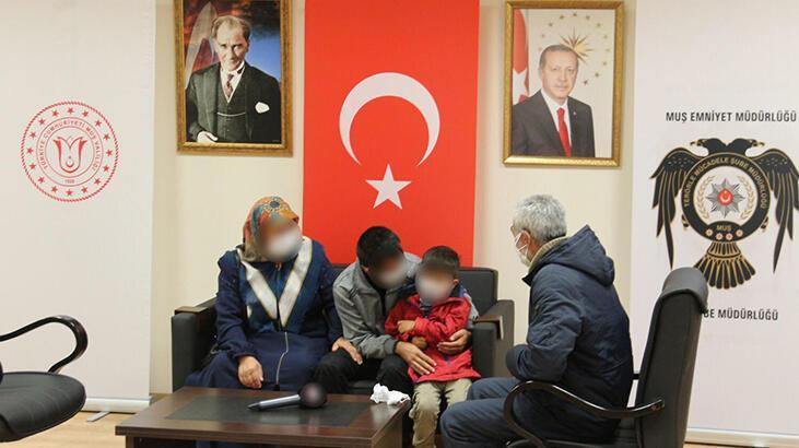 Muş'ta ikna edilen PKK'lı ailesiyle buluşturuldu