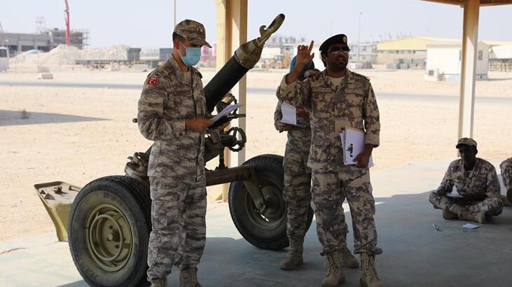 TSK'dan Katar Destek Kuvvet Birliğine havan eğitimi