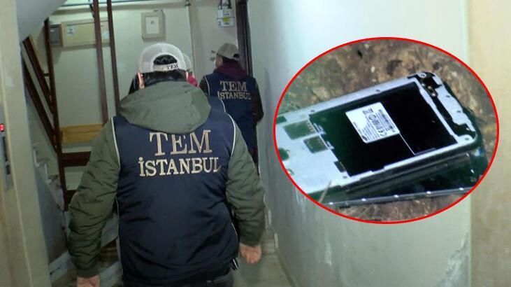 İstanbul'da FETÖ operasyonu! Cep telefonlarını fırlattı