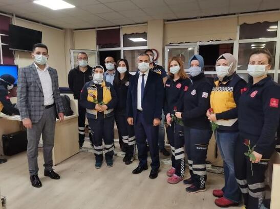 İl Sağlık Müdürü Öznavruz'dan, 112 çalışanlarına ziyaret