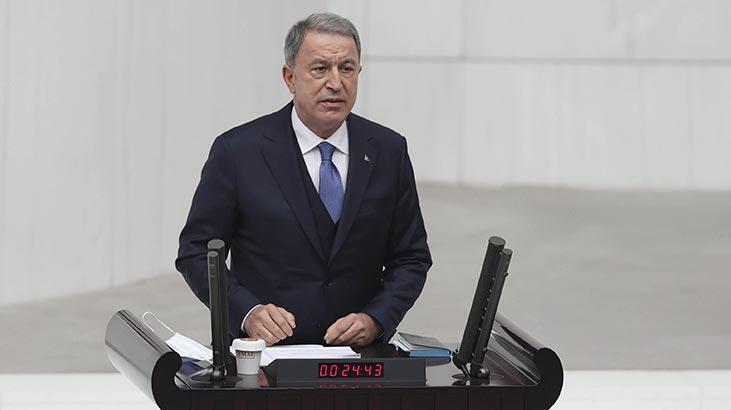 Son dakika... Bakan Akar'dan Doğu Akdeniz mesajı: Gerilimi tırmandırmak isteyen Yunanistan'dır