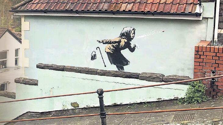 Banksy'den Bristol'a yeni bir eser