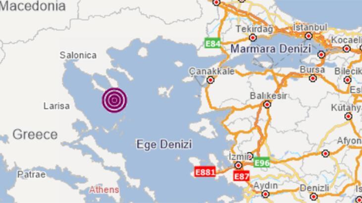 Son dakika... Ege Denizi'nde 4 büyüklüğünde deprem