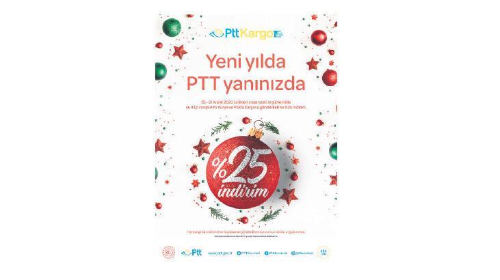 PTT'den yeni yıl için yüzde 25 indirim