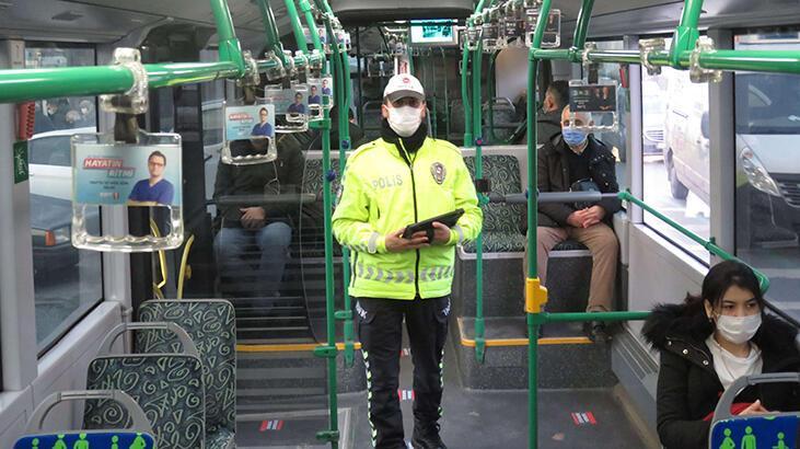 Ataşehir'de toplu taşıma araçlarında koronavirüs denetimi