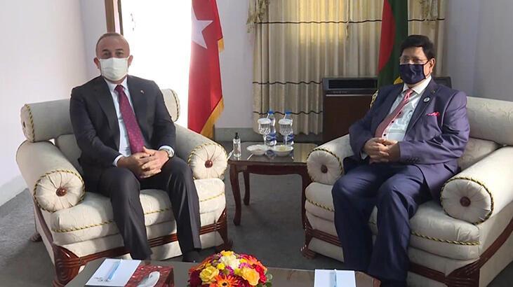 Çavuşoğlu, Bangladeşli mevkidaşı ile görüştü