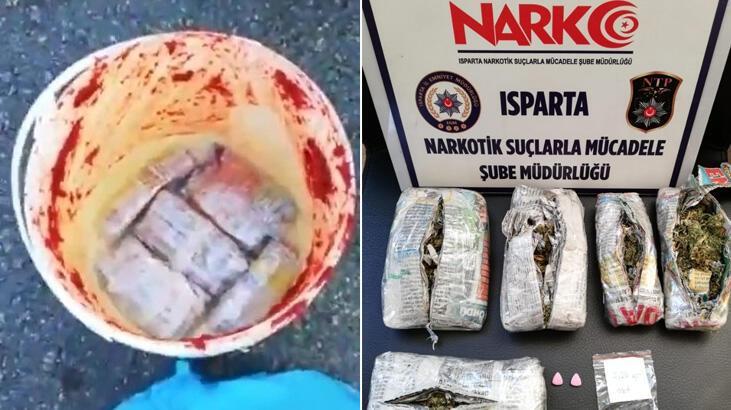Isparta'da salça kutusuna gizlenmiş uyuşturucu madde ele geçirildi