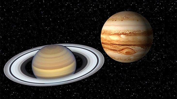 Jüpiter ve Satürn'ün gökyüzündeki buluşması gerçekleşti
