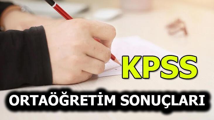 KPSS sonuçları belli oldu! KPSS ortaöğretim sonuçları 2020
