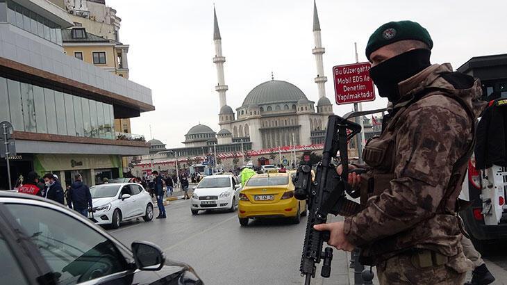 Taksim'de helikopter destekli denetim