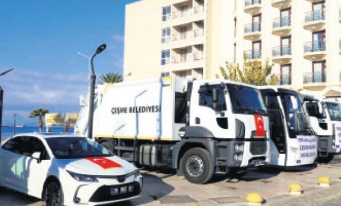 Çeşme Belediyesi'ne sekiz yeni araç