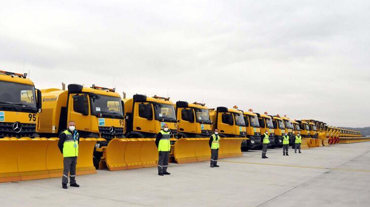 İstanbul Havalimanı'nda kış hazırlıkları tamamlandı