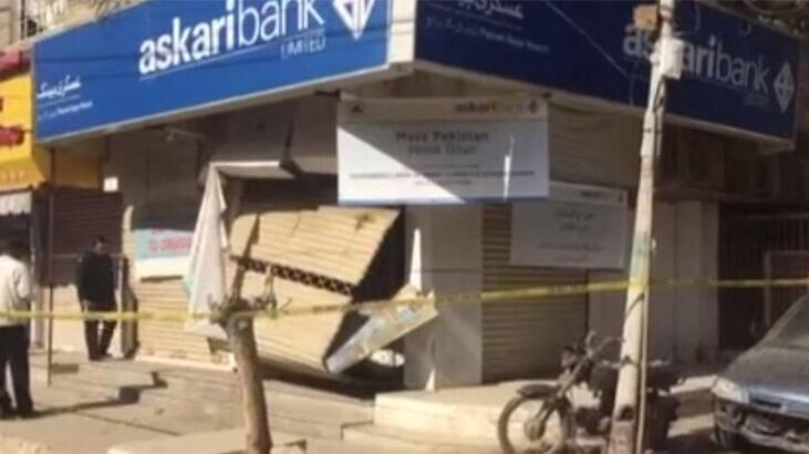 Pakistan'da bankada patlama