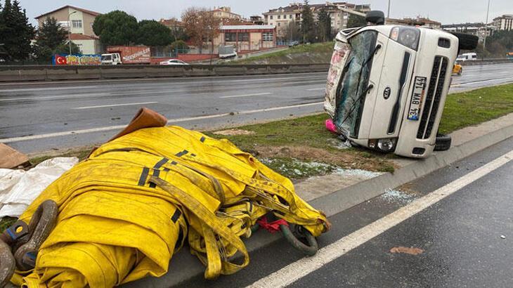 Maltepe'de feci kaza! Ölümden döndüler