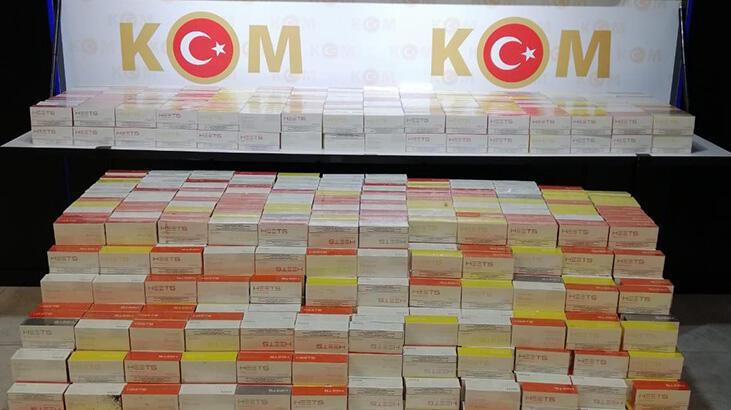 Ankara'da 28 bin 600 paket kaçak elektronik sigara tütünü ele geçirildi