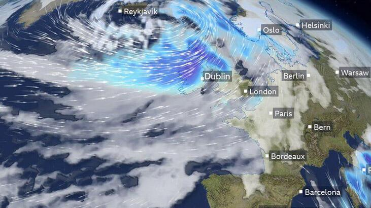 Fransa'yı Bella fırtınası vurdu!