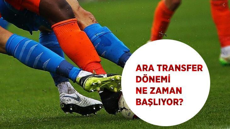 Süper Lig'de ara transfer dönemi ne zaman başlayacak? 2020-2021 ara transfer dönemi tarihleri....