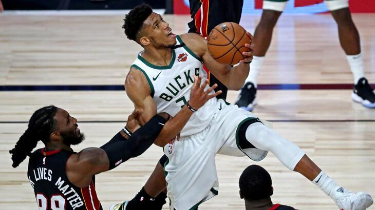 NBA'de Bucks, üç sayı rekoru kırdığı maçta Heat'i 47 sayı farkla yendi
