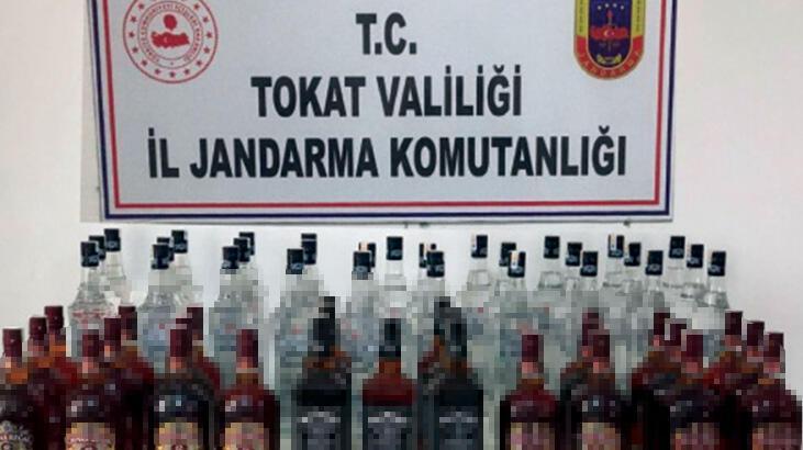 Tokat'ta 102 litre sahte içki ele geçirildi
