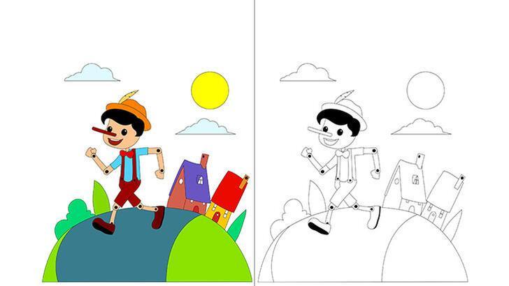 Pinokyo boyama sayfası