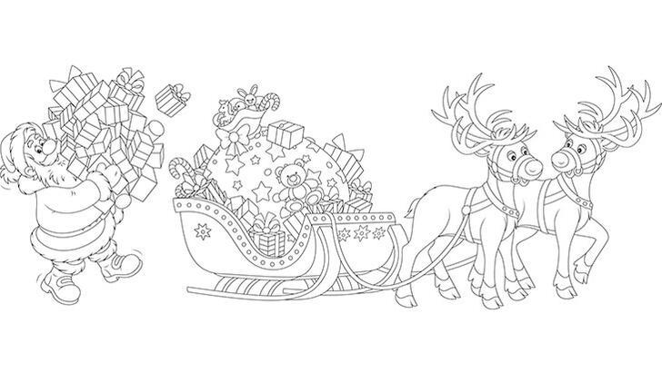 Noel Baba boyama sayfası