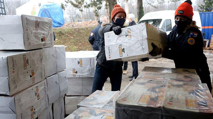 Türkiye'den Hırvatistan'a yardım eli! Malzemeler ulaştı