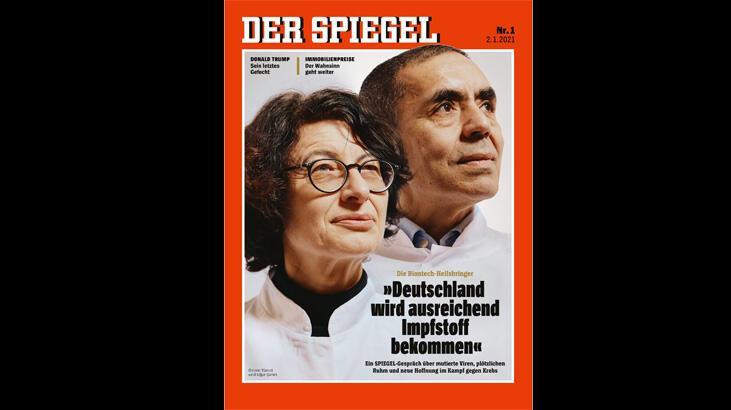 Son dakika... Özlem Türeci ve Uğur Şahin Der Spiegel'in kapağında
